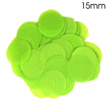 Lime Green Tissue Paper Confetti | 15mm Round | 14g Bag